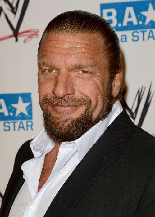 Triple H at the WWE SummerSlam VIP Kick-Off Party in August 2012