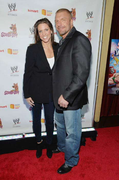 Triple H and Stephanie McMahon at the Scooby Doo! WrestleMania Mystery New York Premiere in March 2014