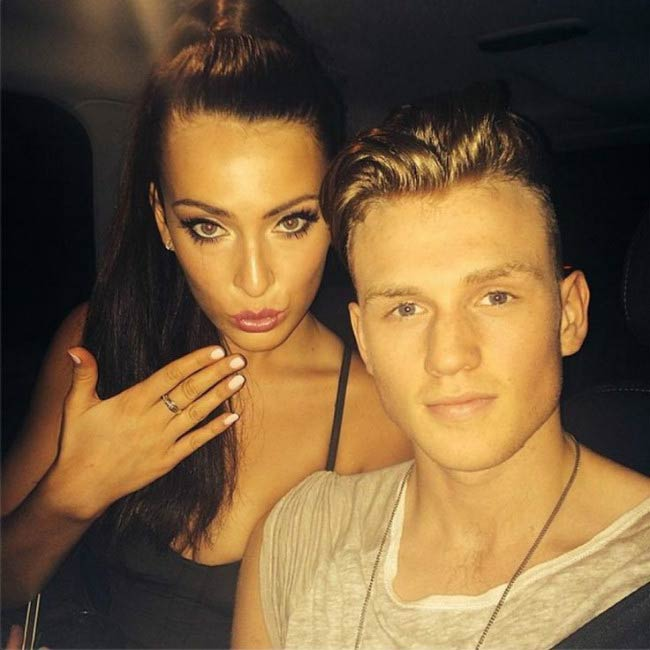 Tristan Evans and Anastasia Smith in a social media picture in 2015
