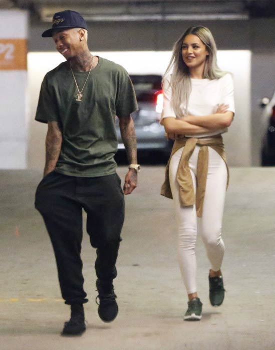 Val Mercado and Tyga out on the streets of Los Angeles in January 2016