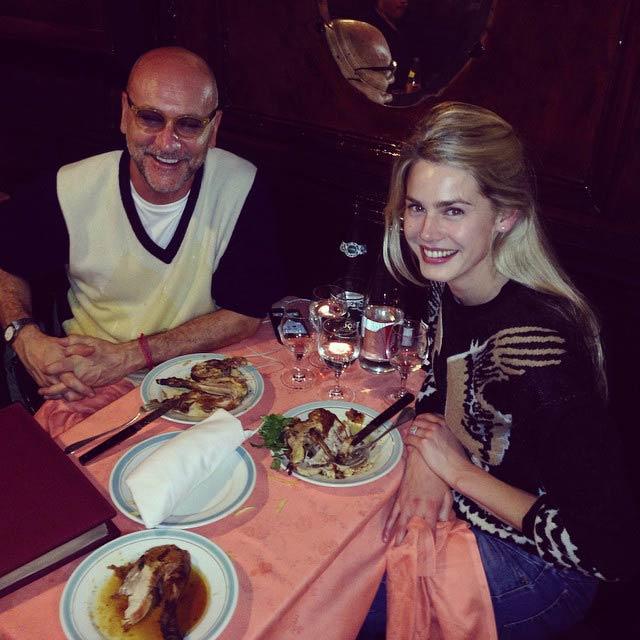 Vanessa Hessler traveling with her partner, Gianni Nunnari in 2014