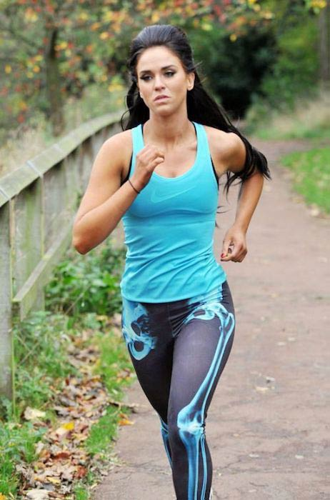 Vicky Pattison running outdoors