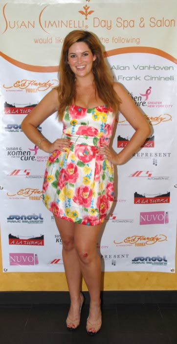Whitney Thompson at the opening of the Susan Ciminelli Day Spa & Salon in June 2009