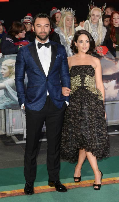 Aidan Turner and Sarah Greene at the world premiere of The Hobbit: The Battle Of The Five Armies in December 2014