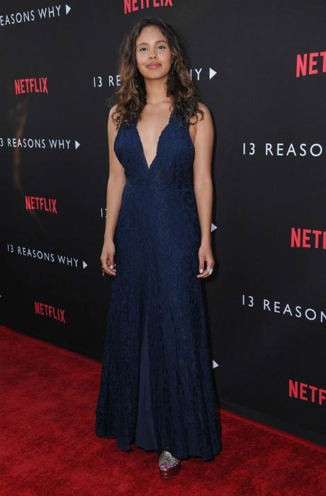 "Alisha Boe at the ""13 Reasons Why"" premiere in Los Angeles in March 2017"