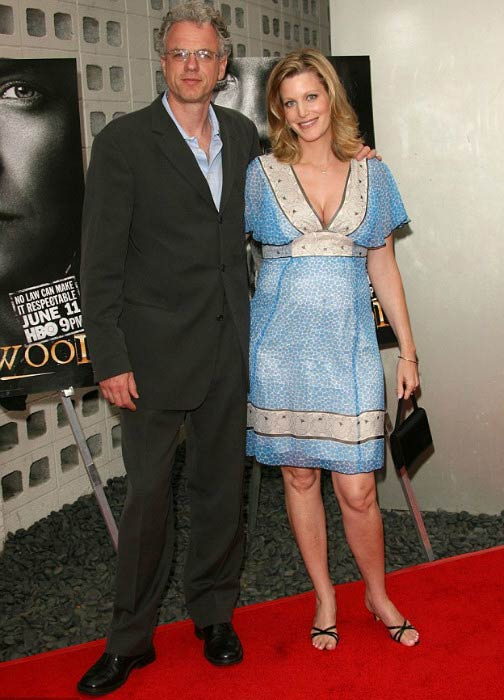 Anna Gunn and Alastair Duncan at the Deadwood season premiere in July 2006