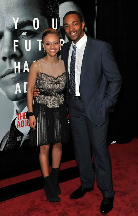 Anthony Mackie and Sheletta Chapital at the premiere of The Adjustment Bureau in February 2011