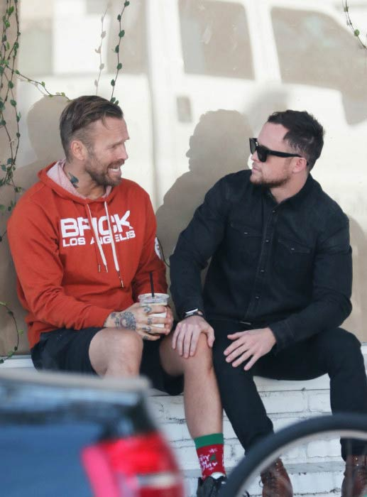 Bob Harper and Anton Gutierrez out in West Hollywood in November 2015