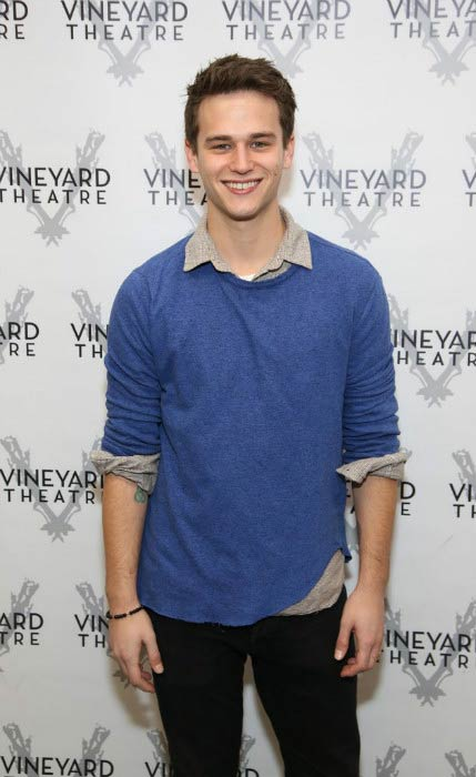 Brandon Flynn at an event held at Vineyard Theatre in 2016