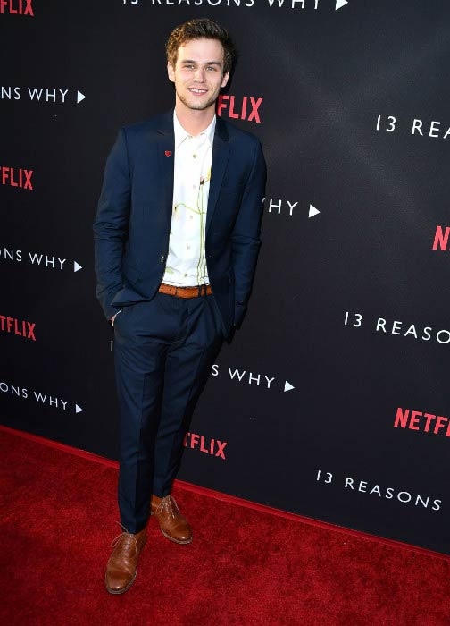 Brandon Flynn at the premiere of Netflix's 13 Reasons Why in March 2017