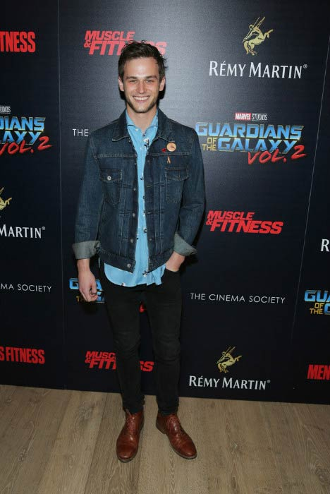 Brandon Flynn at the screening of Guardians of the Galaxy Vol. 2 in May 2017
