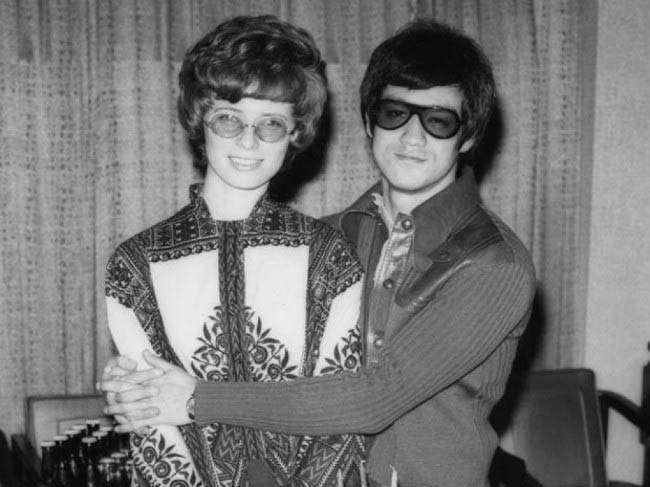 Bruce Lee and wife Linda Lee Cadwell in a private picture released after his death