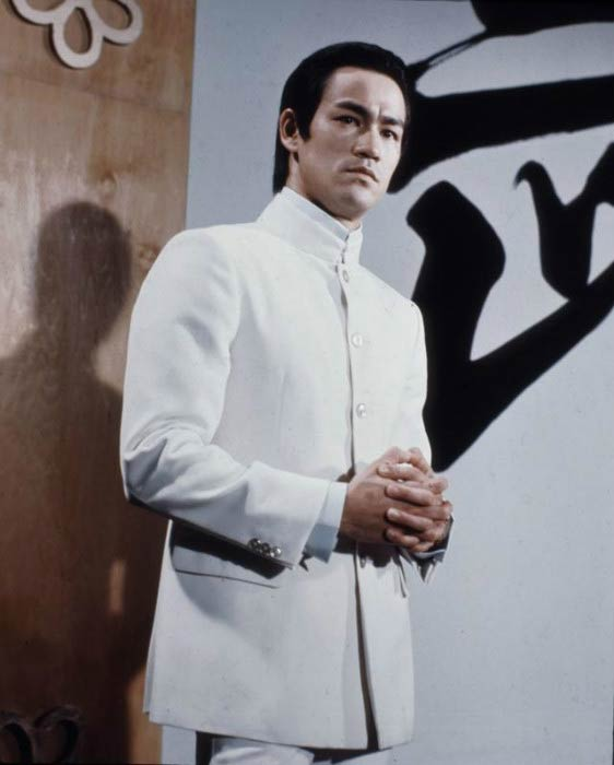 "Bruce Lee in a still from his movie ""Fist of Fury"""