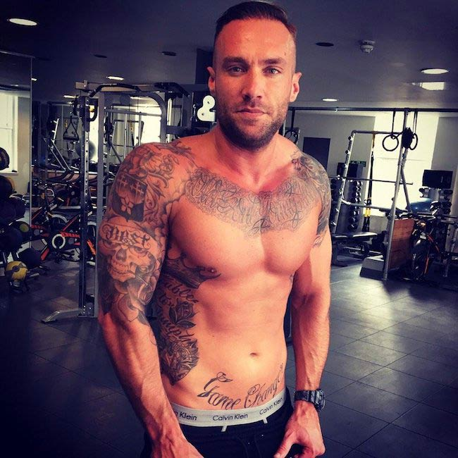 Calum Best shirtless body
