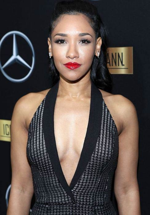 Candice Patton at 2017 Mercedes Benz + Icon Mann Academy Awards Viewing Party