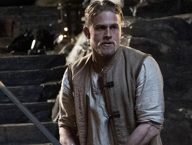 "Charlie Hunnam in a still from ""King Arthur: Legend of the Sword"""