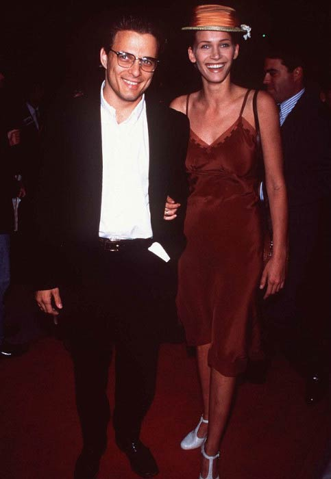 Damian Chapa and Natasha Henstridge arriving at an event in 1995