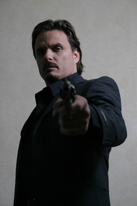 "Damian Chapa in a still from movie ""Blood In Blood Out"""