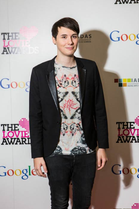 Dan Howell at the 4th Annual Lovie Award in November 2014