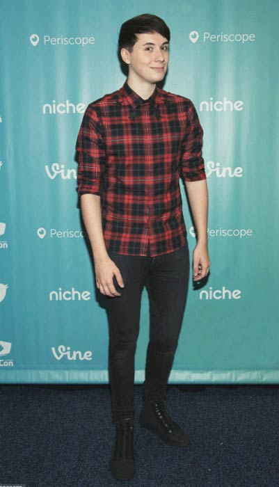 Dan Howell at the 7th Annual VidCon in Anaheim, California in June 2016