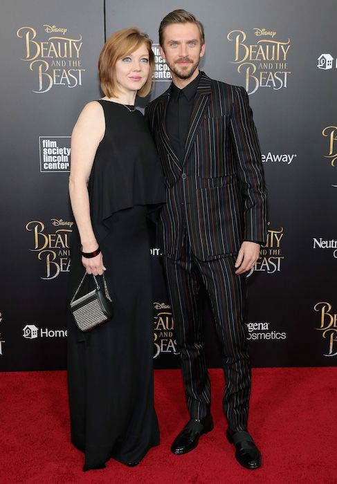 Dan Stevens with wife Susie Hariet for the New York screening of Beauty and the Beast in March 2017