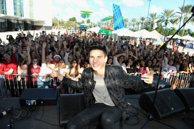 Daniel Skye performs at the Y100's Jingle Ball 2016 - PRE SHOW in December 2016