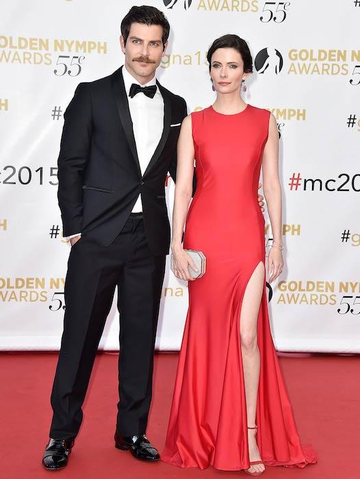 David Giuntoli with fiancée Elizabeth Tulloch at the closing ceremony of 55th Monte Carlo Television Festival in Monaco in June 2015