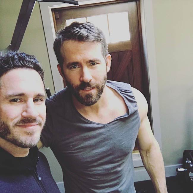 Don Saladino and Ryan Reynolds in the gym