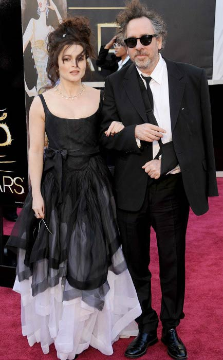 Helena Bonham Carter and Tim Burton at a public function in February 2013