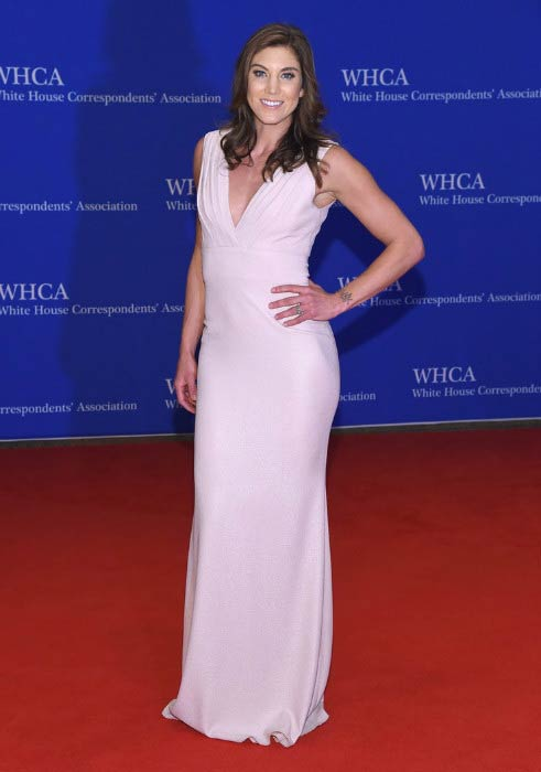 Hope Solo at the 102nd White House Correspondents' Association Dinner in April 2016