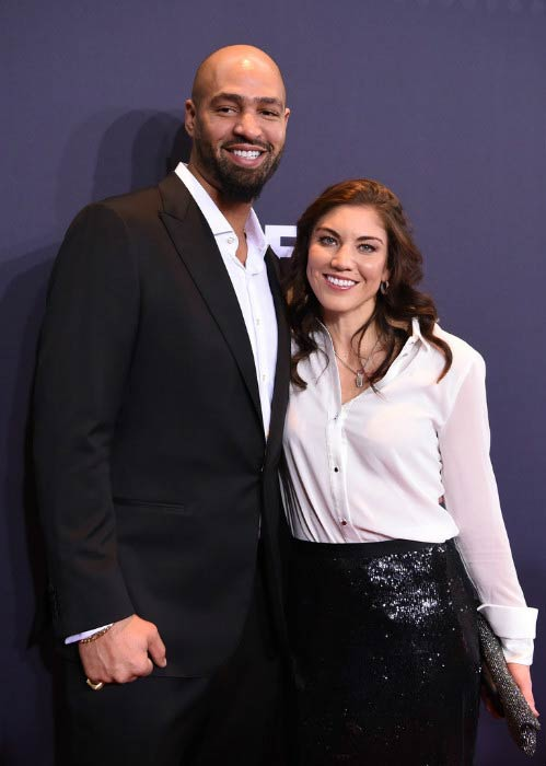 Hope Solo and Jerramy Stevens at the FIFA Ballon d'Or Gala in Zurich in January 2016