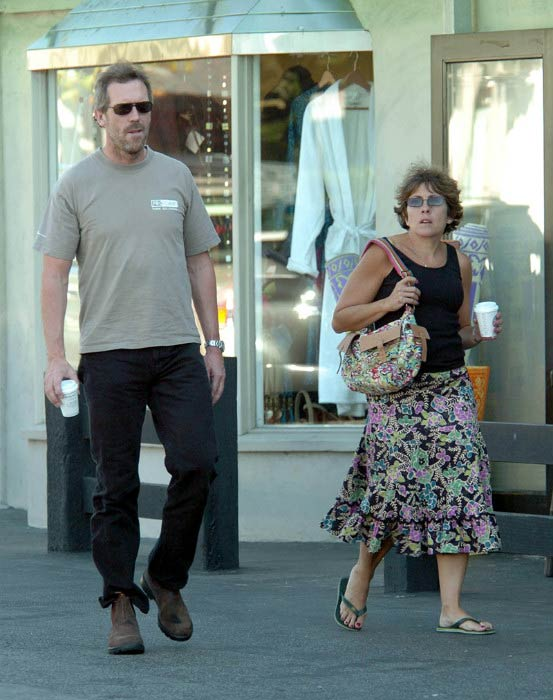 Hugh Laurie and Jo Green out and about in London in 2014