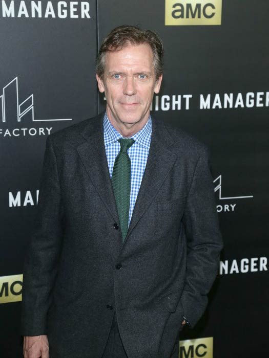 Hugh Laurie at the premiere of AMC's The Night Manager in April 2016