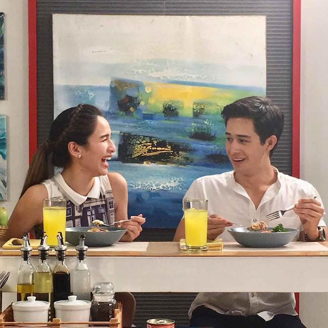 Ivan Dorschner enjoying food with Ultimate Star Jennylyn Mercado