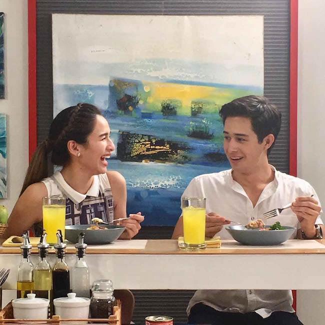 Ivan Dorschner enjoying food with Ultimate Star Jennylyn Mercado
