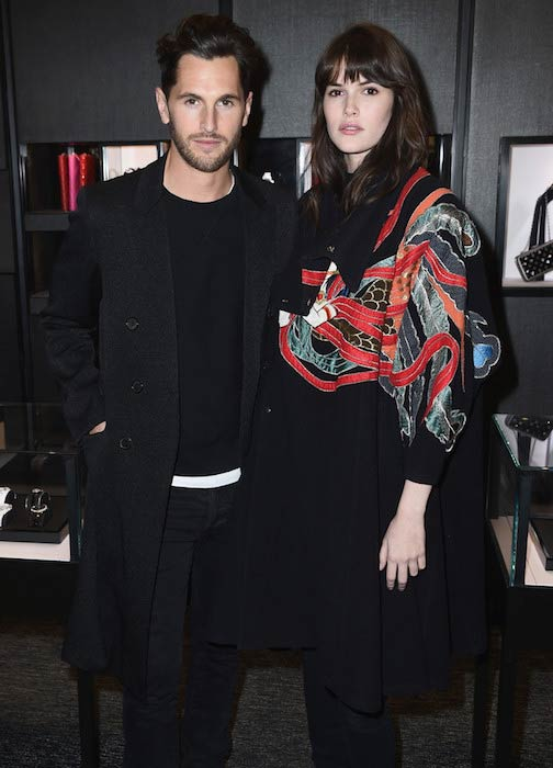 Jake Davies (Left) and Vanessa Moody at Chanel cocktail celebration in December 2016