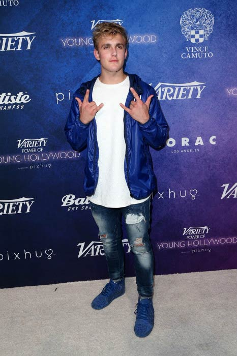 Jake Paul at the Variety's Power of Young Hollywood in August 2016