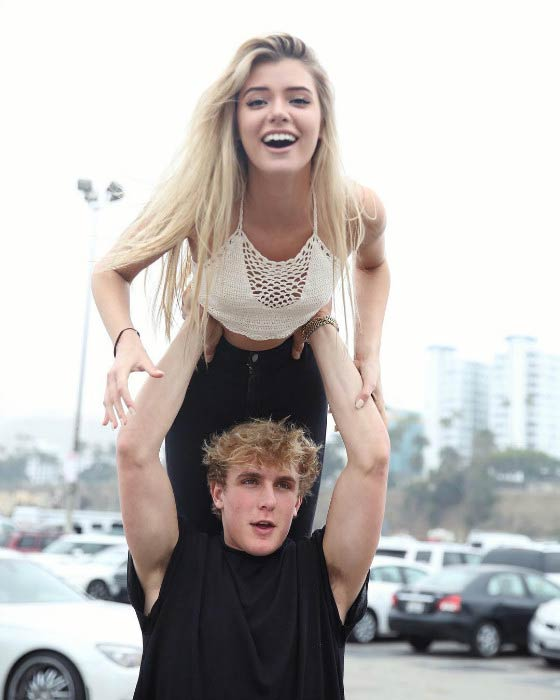 Jake Paul and Alissa Violet as seen in 2016