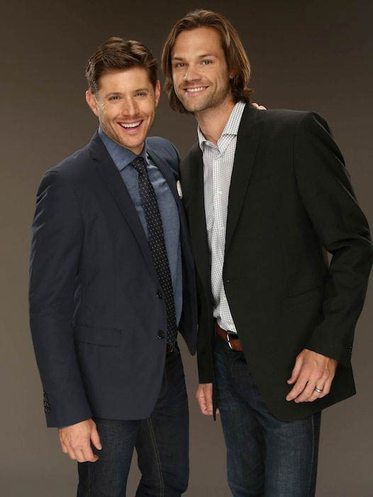 Jared Padalecki with co-star Jensen Ackles in the CW and Showtime's 2014 Summer Television Critic's Association Tour Portraits
