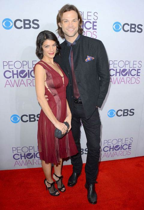 Jared Padalecki with his wife, Genevieve Cortese at the People's Choice Awards in January 2011