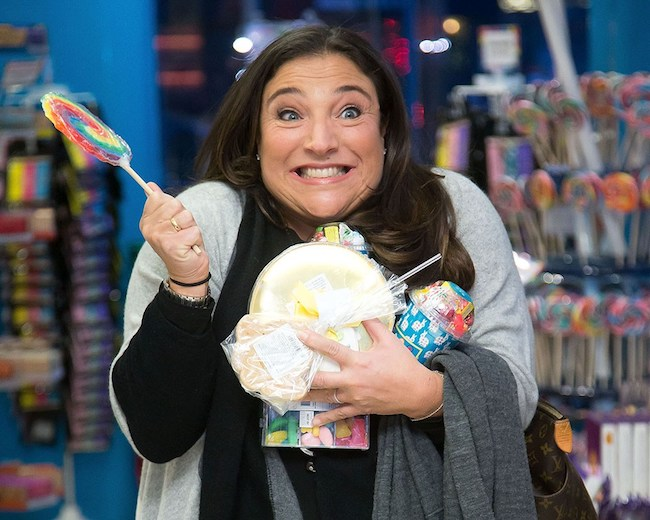 Jo Frost with candies a few years back