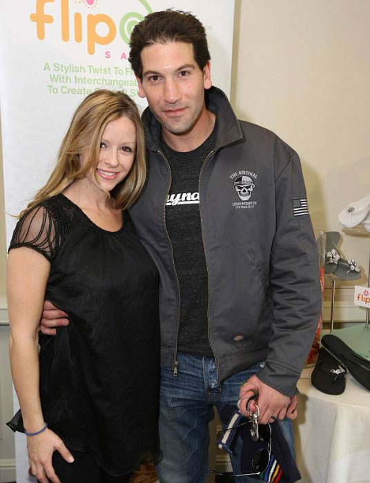 Jon Bernthal and Erin Angle at a private event in February 2011