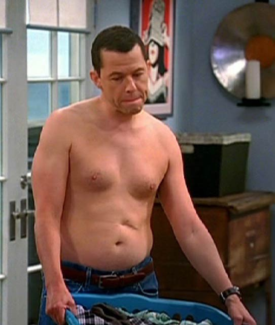 "Jon Cryer shirtless in a still from ""Two and a Half Men"""