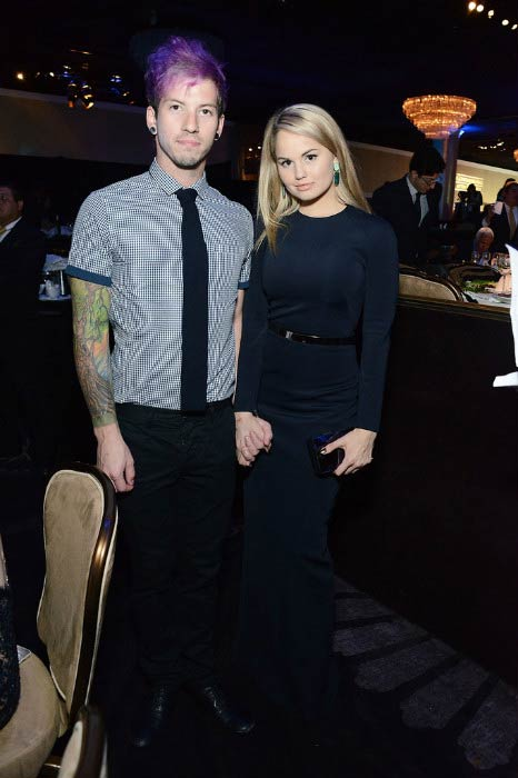 Josh Dun and Debby Ryan at the 5th Annual Thirst Gala in June 2014