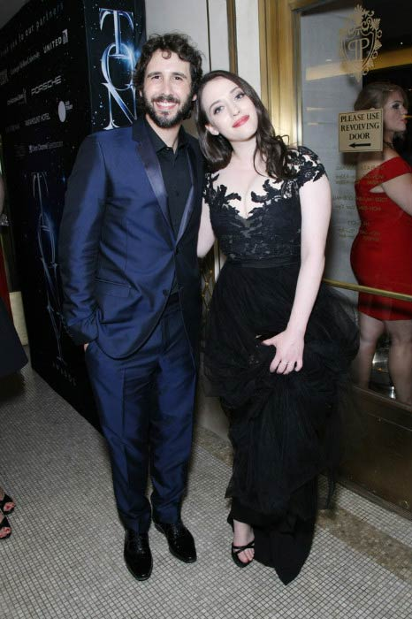 Josh Groban and Kat Dennings at the 2015 Tony Awards Gala