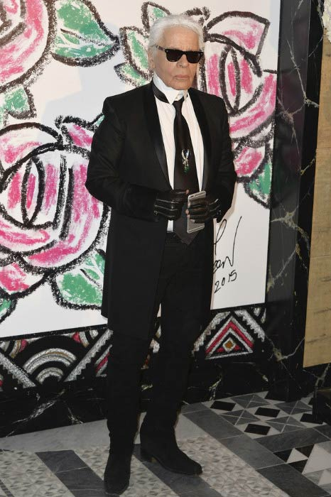 Karl Lagerfeld at the Rose Ball in aid of the Princess Grace Foundation in March 2015 in Monaco