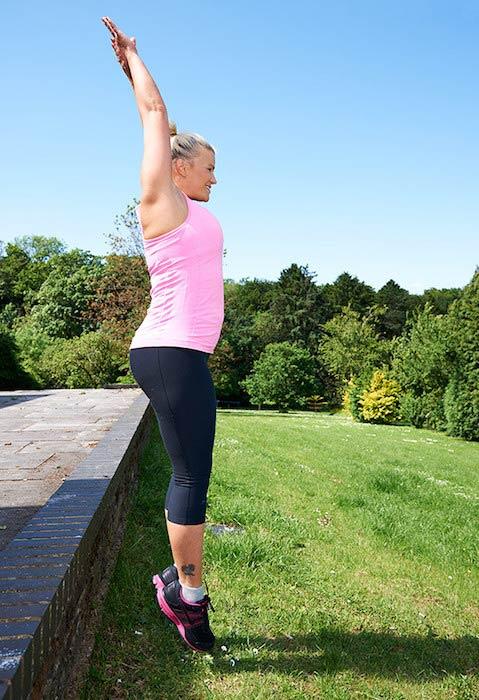 Kerry Katona's outdoor workout