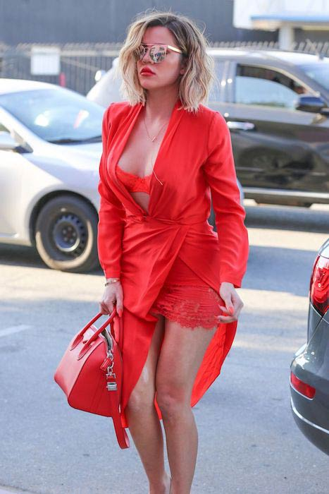 Khloe Kardashian in chic outfit going to the Vanderpump Dog Rescue Center in April 2017