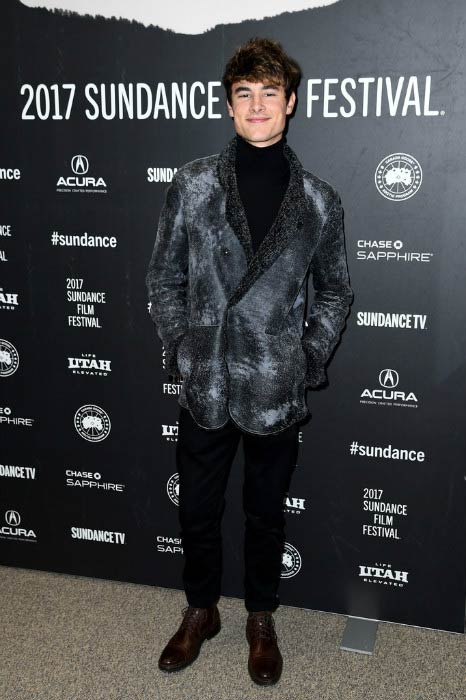 Kian Lawley at the Before I Fall premiere at Sundance Film Festival in January 2017