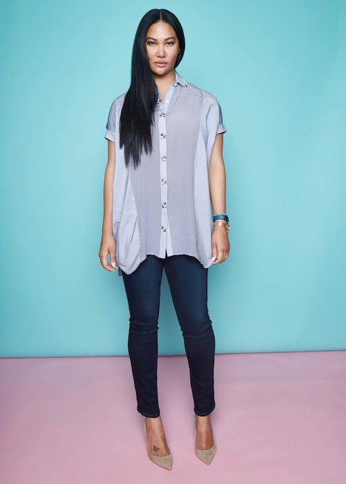 Kimora Lee Simmons dressed in her own brand, KLS in a June 2016 photoshoot